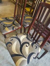 Table and 4 chairs with free sideboard