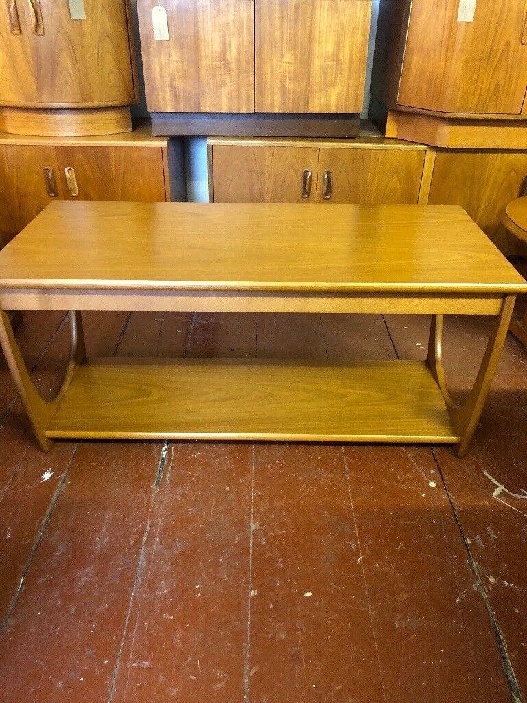 G Plan E Gomme Teak Veneered Long John Coffee Table. Mid Century Design, Vintage, Retro. ON SALE
