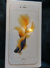 Iphone 6s plus, brand new, unlocked, 64gb, gold, unopened box factory sealed.