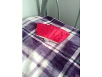 Red clucth bag
