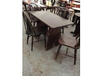 Pub table & 4 Round Back Chairs