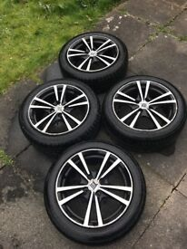 Used alloy wheels with nearly new tyres