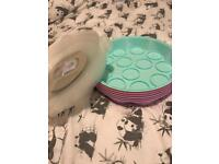 6 x cupcake carriers and lids