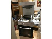 Flaval gas oven with overhead grill