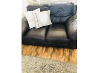 3 + 2 seater genuine leather sofa
