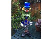 Murano Venetian Glass Clown