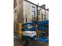 Niftylift 120T trailer mounted cherry picker access platform 2007