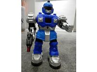 Lovely large robot that lights up, talks and walks