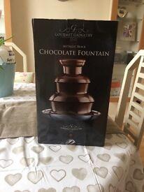 Metallic Black Chocolate Fountain