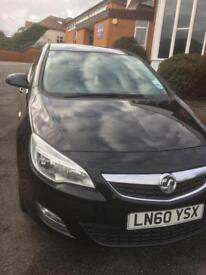 Black Vauxhall Astra 2011, 1.6, 1 Lady owner from new, Full Service History