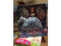 Sparkle girls bourse and barbie