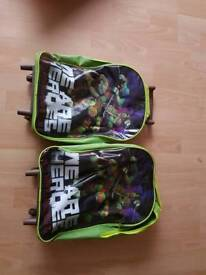 Ninja turtle suitcase with wheels