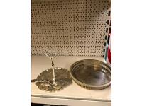 Cake stand and bowl
