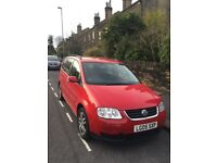 Red Volkswagen Touran 05 1.9 Diesel Excellent Condition Well Maintained!!!