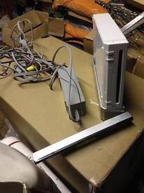 Nintendo wii. Cables, controllers and wii fit board