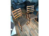 1970s teak chairs