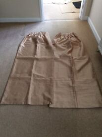 """Gold Coloured Curtains 54"""" Drop x 44"""" Wide"""
