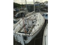 Westerly GK24 Yacht Sailing Boat. 24 ft LOA Masthead, Yanmar Diesel, Electronics, recent cushions