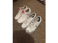 2 x PAIR OF TRAINERS..1 X POLO RALPH LAUREN & 1 ADIDAS SIZE 7