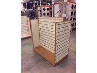 Slatwall Gondola Display Unit Cream white