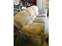 Recline sofa and reclining single chair