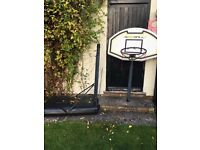 Free basketball net and stand. Needs some attention on the handle as won't go up or down