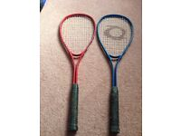 Squash Rackets x 2 and Tennis Racket Bag