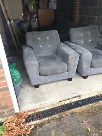 Sofology 3 seater Sofa & 2 Armchairs