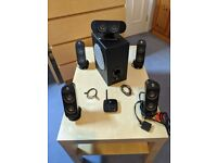 Logitech X-530 5.1 Channel 70W Black Speaker Set
