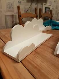 Set of 3 homemade cloud shelving