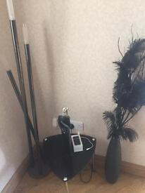 Black Lamp and furniture