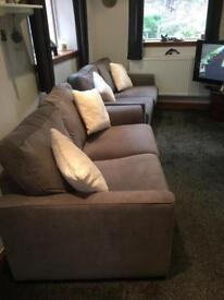 2 brand new 2 seater couches (grey)