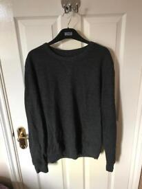 Zara men's dark grey jumper
