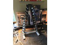 Chrome 1-10 kg circle dumbbell set and rack