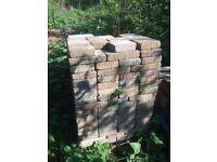 Block paving bricks, approx 550, Marshall's assorted sizes