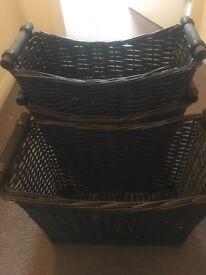 Magazine storage baskets