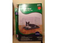 Dog crate, 2 door folding dog crate