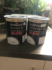 Two pots gloss paitn
