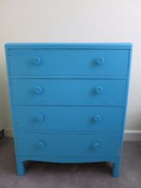 Turquoise Dresser /painted solid wood