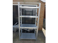 1 X Industrial Galvanised Metal Shelving Bays made in Italy