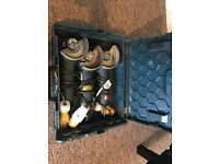 3x 110V BOSCH ANGLE GRINDER, WITH BOX, CAN ALSO POST IF NEEDED