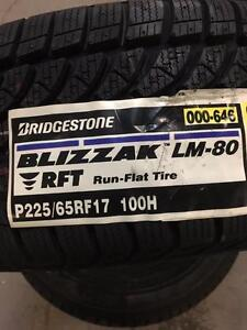 4 Brand New Bridgestone Blizzak LM-80 Run-flat Tires. *** WallToWallTires.com ***