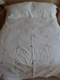 Double Bed Duvet Cover With Pink Flowers