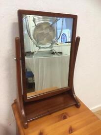 Vintage teak dressing mirror