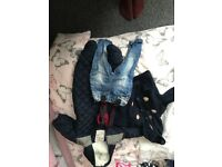 Boys winter coat all in one and jeans