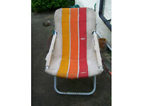Two Italian 1960s garden chairs for restoration