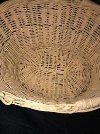 ATTRACTIVE WICKER BASKET. OFFERS ACCEPTED