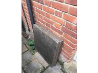 24 X 60cm square used concrete paving slabs. Pick up only