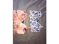 2 Misguided bralet tops - size 8