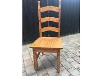 Solid Pine Dining Room Chairs